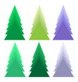 a set of christmas tree vector image vector image