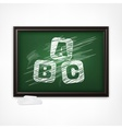 ABC on blackboard vector image vector image