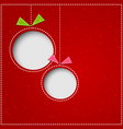 abstract christmas balls cutted from paper on red vector image