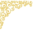 Abstract gold dust glitter swirl pattern vector image vector image