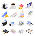 accounting isometric icons vector image