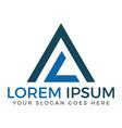 al or la pyramid modern letter logo design vector image vector image