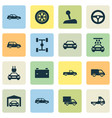 auto icons set collection of van plug crossover vector image vector image