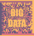 big data concept colorful background vector image