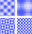 Blue simple pattern set vector image vector image