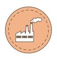build plant factory pollution icon vector image