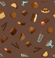 chocolate sweets seamless pattern background vector image vector image
