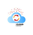 cloud backup vector image