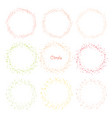 collection of decorative round frames vector image vector image
