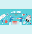 covid19 19 vaccine research and development vector image