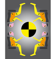 Crash test dummies vector image vector image