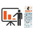 Crisis Reporting Person Icon with 2017 Year Bonus vector image vector image