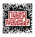 Cyber Monday Lettering with QR-code vector image vector image