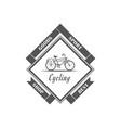 cycling shop logotype vector image vector image
