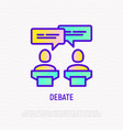 debate icon two candidates discussing politics vector image