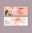 elegant magnolia flower gift voucher template in vector image