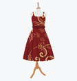 Elegant red dress vector image vector image