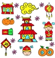 Element clebration Chinese of doodles vector image vector image