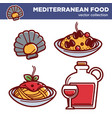 exotic mediterranean food collection of vector image vector image