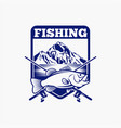 fishing fishing logo badge 6 vector image vector image