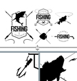Fishing Silhouettes signs and logo symbols set 1 vector image
