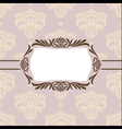 floral retro frame vector image vector image
