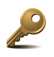 Golden key vector image vector image