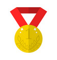 golden medal icon isolated on white background vector image