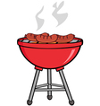 Grilled Sausages On Barbecue vector image