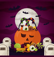 happy halloween celebration day vector image vector image