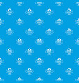 hiking pattern seamless blue vector image vector image