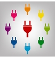 Icons colorfull set vector image vector image