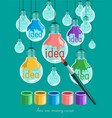 idea and creativity vector image vector image