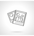 Lovers photo flat line icon vector image vector image
