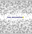 mosaic background with white grey pixels equalizer vector image vector image