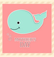 mothers day fish vector image vector image