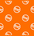no horn traffic sign pattern seamless vector image vector image