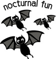 Nocturnal Fun vector image vector image