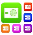 outdoor compressor of air conditioner set color vector image vector image