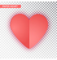 paper heart isolated heart valentine s vector image vector image