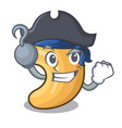 pirate character cashew nuts heap on cartoon vector image vector image