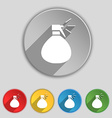 plastic spray of water icon sign Symbol on five vector image