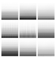 Seamless monochrome pattern set vector image