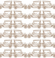 Seamless pattern of old vintage car vector image vector image