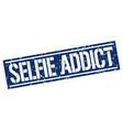 Selfie addict square grunge stamp