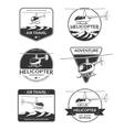 set helicopter logos labels design elements vector image vector image