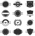 Set of blank black and white retro labels vector image