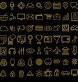 Set of linear media service icons 100 icons for vector image