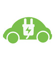 sign electric car charging in vector image