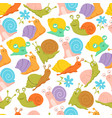 snail seamless pattern fashion kids endless vector image